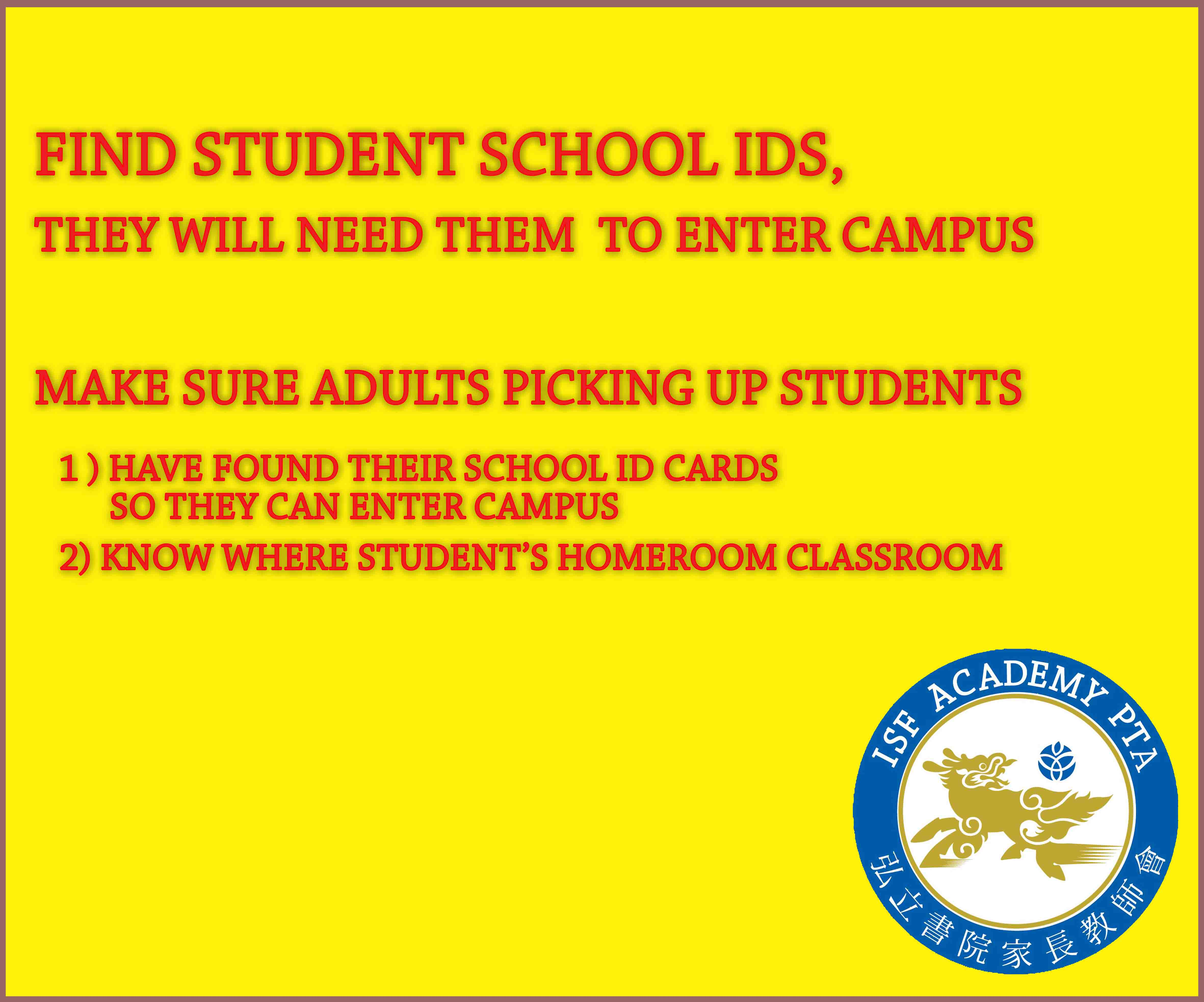 Have IDs When Returning to School